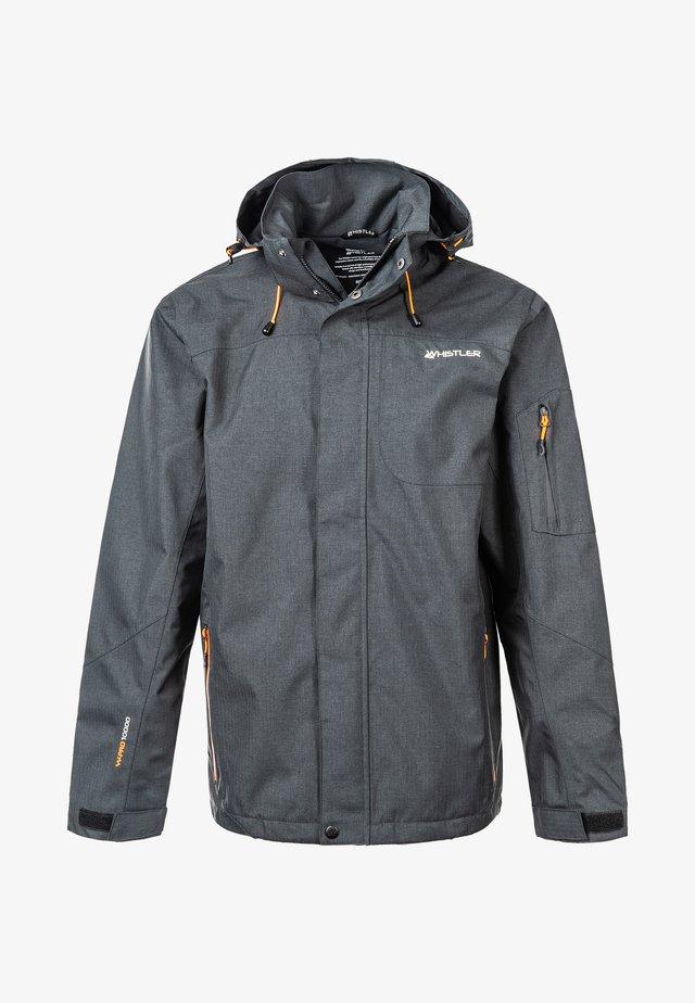 Waterproof jacket - 1011 dark grey melange