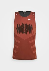 Nike Performance - RISE TANK - Camiseta de deporte - claystone red/black