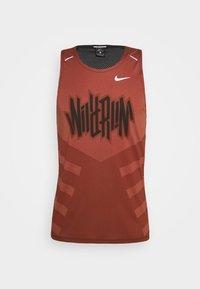 Nike Performance - RISE TANK - Sports shirt - claystone red/black - 3