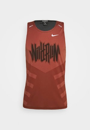 RISE TANK - T-shirt de sport - claystone red/black