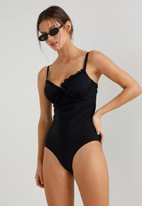 Pour Moi - SPLASH PADDED UNDERWIRED SUIT - Badeanzug - black - 1