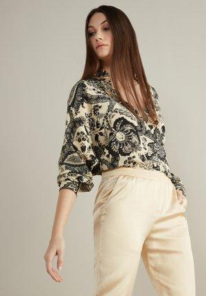 Button-down blouse - damasco floreale