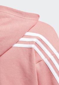adidas Performance - 3-STRIPES FULL-ZIP HOODIE - Zip-up hoodie - pink - 3