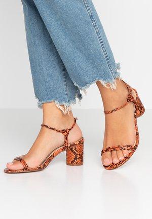 WIDE FIT SANDRA - Sandals - orange rust