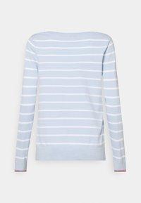 Tommy Hilfiger - BOAT NECK  - Sweter - breezy blue/optic white - 1