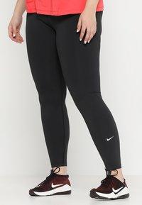 Nike Performance - ONE PLUS - Legginsy - black/white - 0