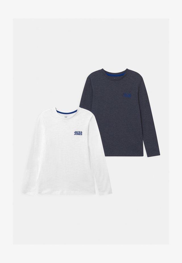 JJADAM CREW NECK 2 PACK - Long sleeved top - navy blazer/white