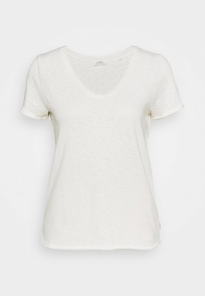 SHORT SLEEVE V NECK - T-Shirt basic - scandinavian white