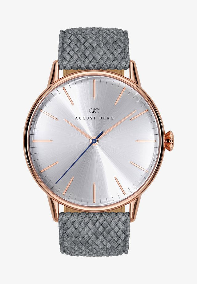 UHR SERENITY SIMPLY WARM GREY PERLON 40MM - Horloge - sunray silver