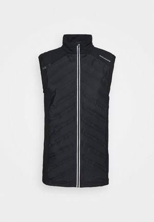 COROMANDEL HYBRID VEST - Waistcoat - black