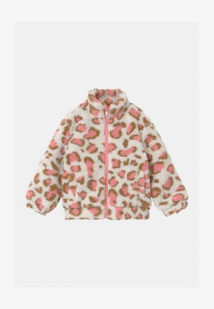 ZIP THROUGH - Winter jacket - dark vanilla/pink