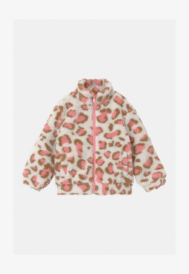 ZIP THROUGH - Zimní bunda - dark vanilla/pink
