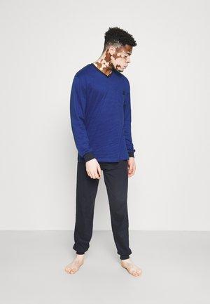 V-NECK - Pyjamas - blue dark