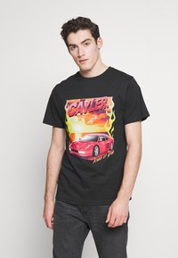Cayler & Sons - RIDE OR FLY TEE - Print T-shirt - black - 0