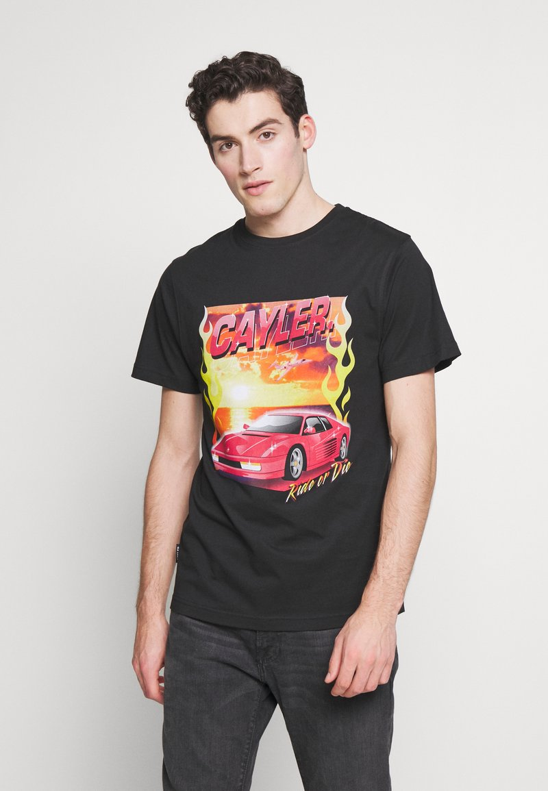 Cayler & Sons - RIDE OR FLY TEE - Print T-shirt - black