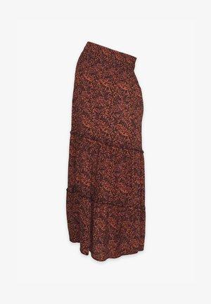 MLLUANNE MAXI SKIRT - Maxi skirt - auburn