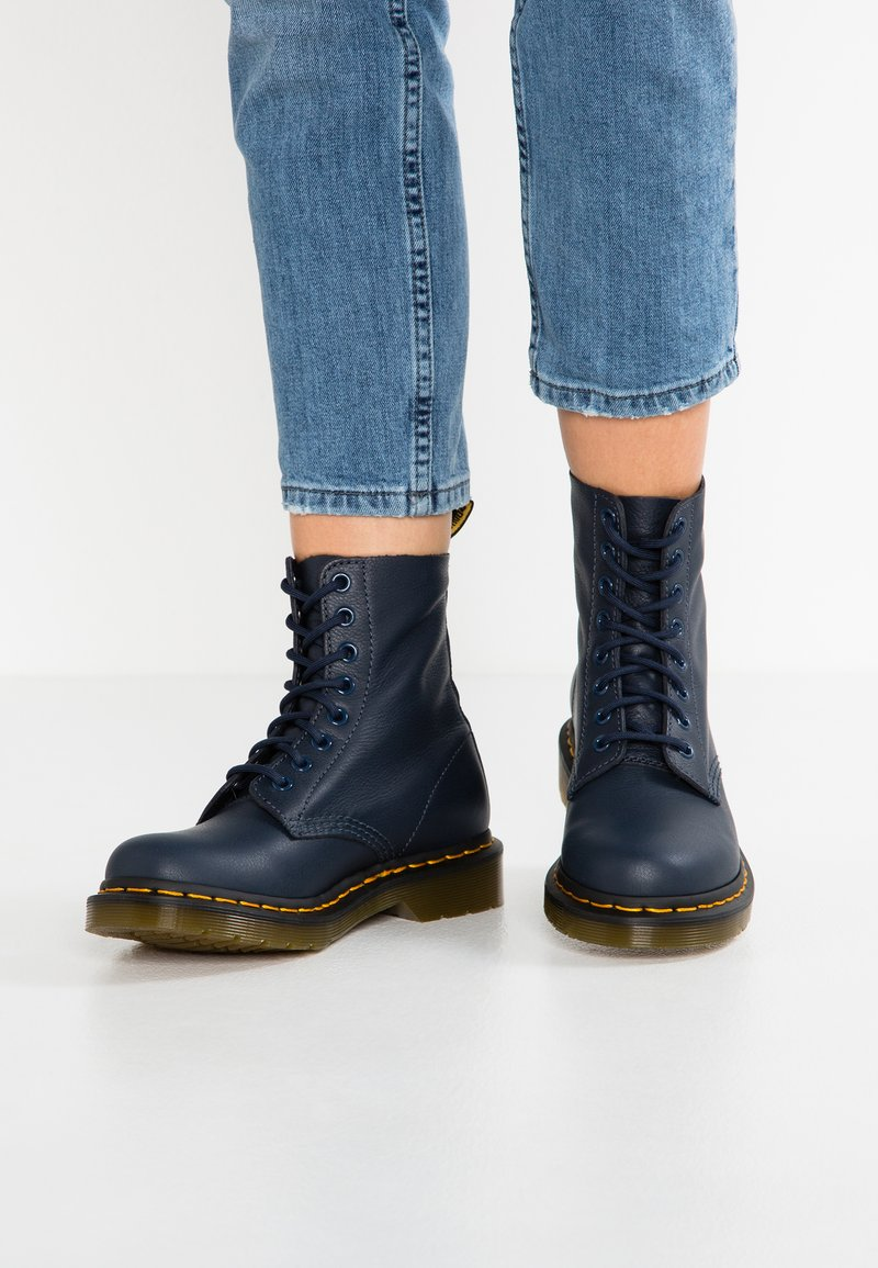 Dr. Martens - 1460 PASCAL 8 EYE BOOT  - Lace-up ankle boots - dress blue