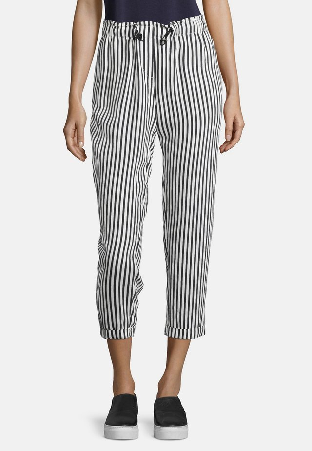 Trousers - weiß/blau