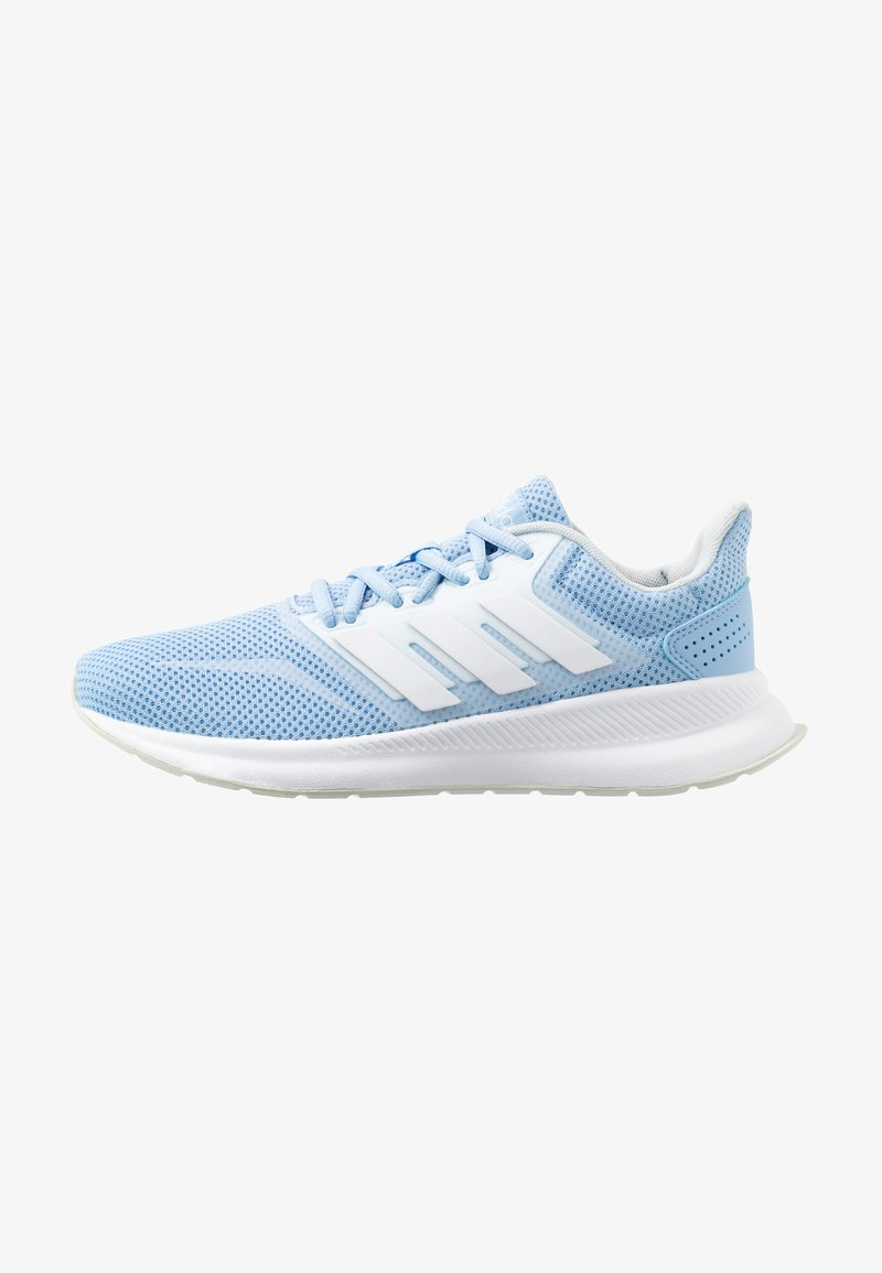 adidas Performance - RUNFALCON - Neutral running shoes - glow blue/footwear white/blue tint