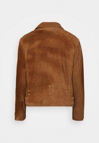 AllSaints - LUNA BIKER - Leather jacket - tan brown - 2