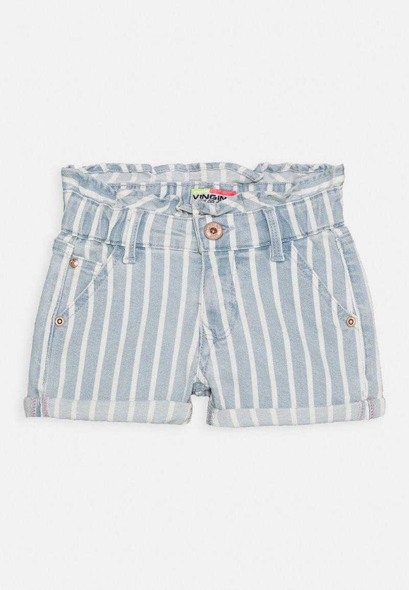 Vingino - DALMINE - Denim shorts - blue/white