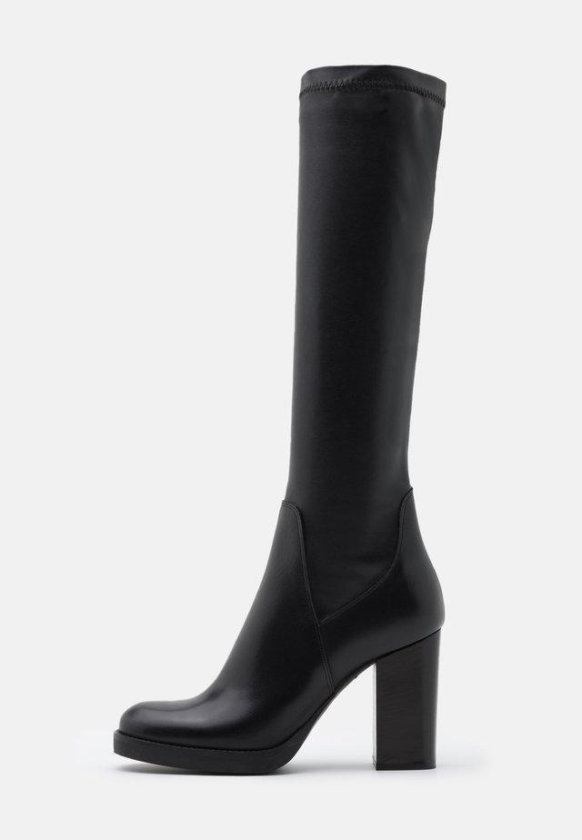 Platform boots - noir