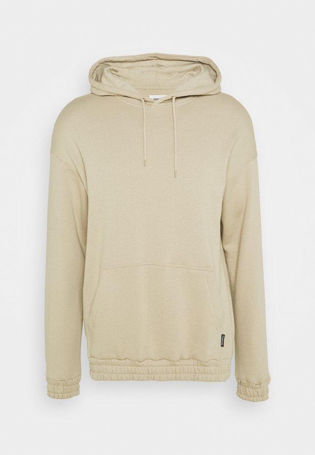 BOTTOM HOODIE  - Sweatshirt - taupe