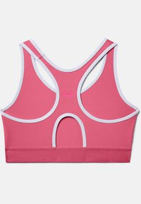 Under Armour - MID KEYHOLE GRAPHIC - High support sports bra - pink lemonade - 3