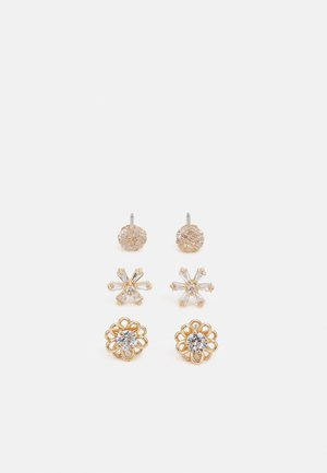 CILISA 3 PACK - Earrings - clear/gold-coloured