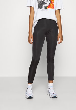 Shiny Look Leggings - Leggings - Trousers - black