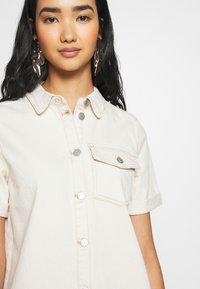Vila - VIGLOVE DRESS - Denim dress - whisper white - 5