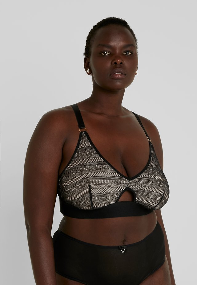 KAT STRIPE BRALETTE - Top - black