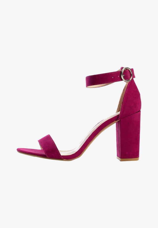 CLAUDIA  - Sandalen met hoge hak - purple