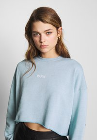 Topshop - PARIS RAW HEM - Sweatshirt - stone - 3