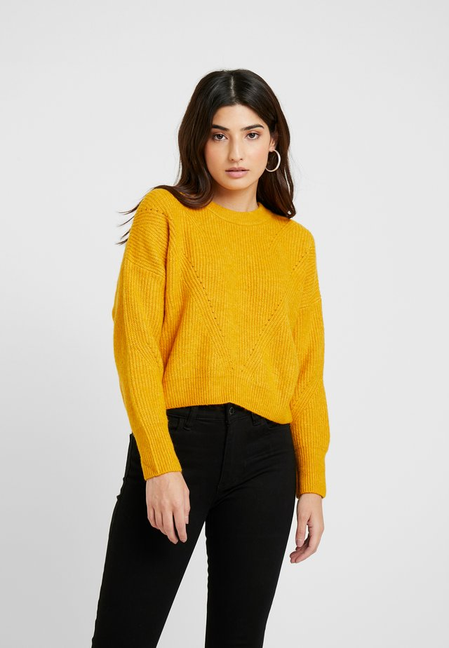 HORIZONTAL CROP - Jumper - mustard