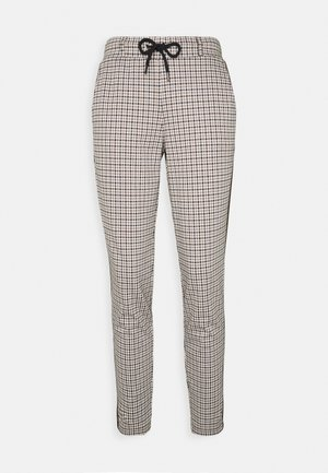 CHECKED PANTS - Trousers - camel