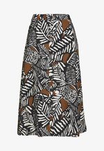 PRINTED MIDI SKIRT WITH BUTTONS - A-line skirt - multicoloured