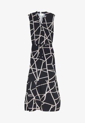 Vestito lungo - black/white