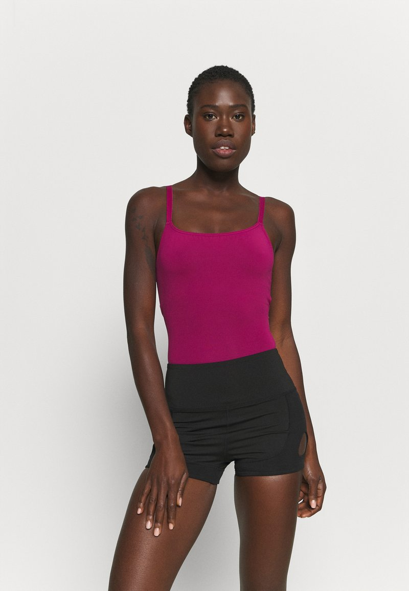 Capezio - CAMISOLE LEOTARD X CROSS STRAPS - Leotard - berry