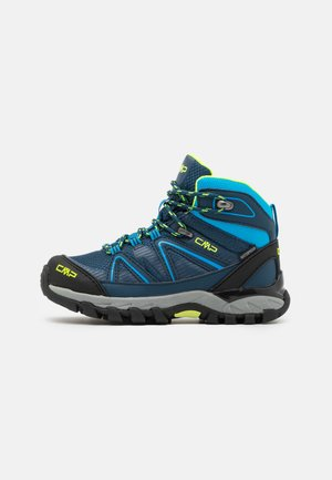 KIDS SHEDIR MID SHOE WP UNISEX - Hiking shoes - blue ink/river