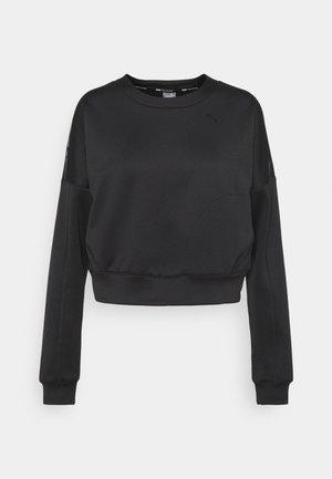 TRAIN ZIP CREW - Sweatshirt - black
