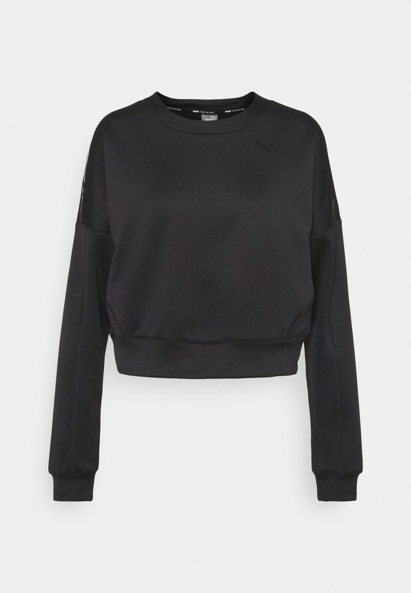 Puma - TRAIN ZIP CREW - Sweatshirt - black