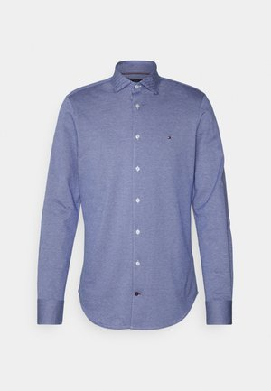 MINI TEXTURE SLIM SHIRT - Shirt - navy/white