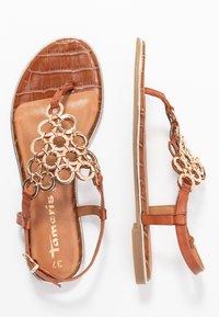 Tamaris - T-bar sandals - brandy - 3