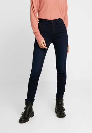 SCARLETT HIGH ZIP - Jeansy Skinny Fit - mulberry