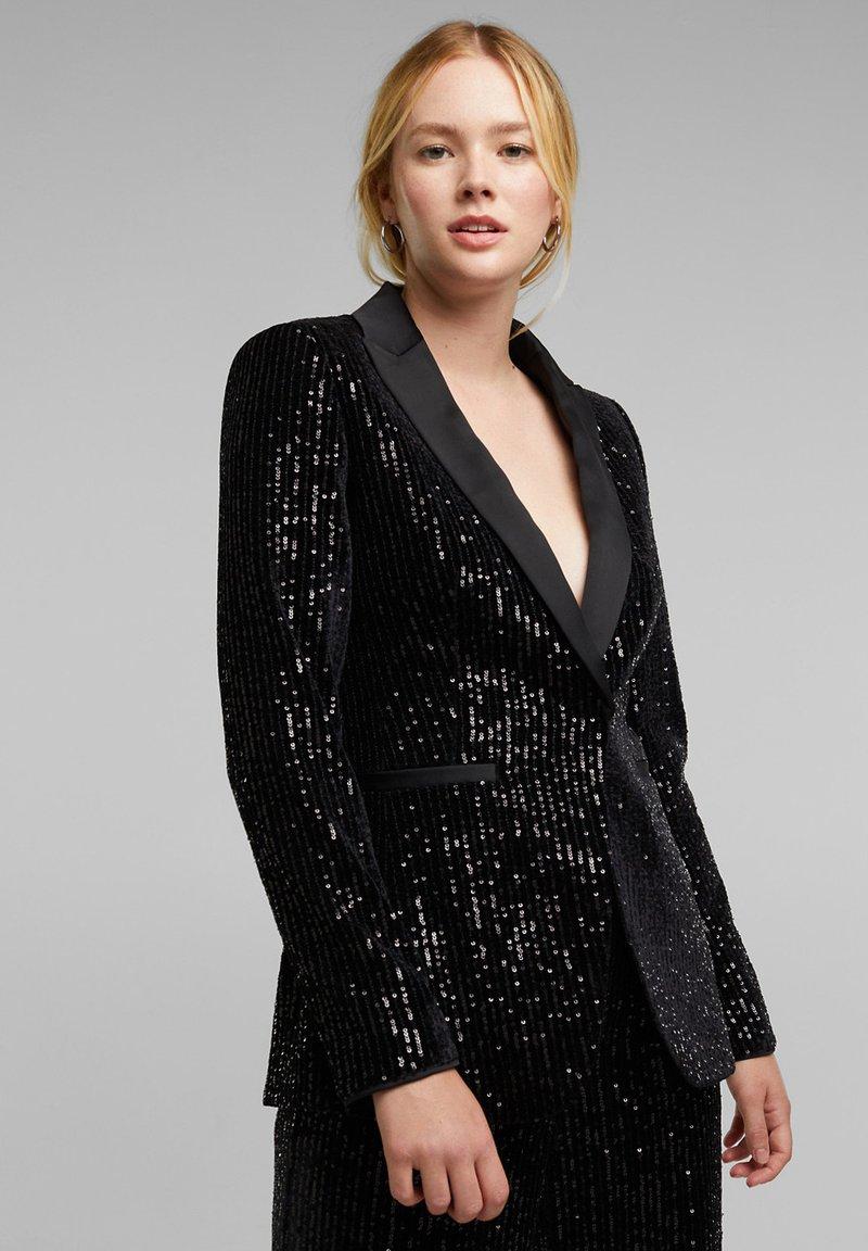 Esprit Collection - MIT PAILLETTEN - Blazer - black