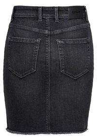 ONLY - ONLBLUSH RAW - Denimová sukně - black denim - 1