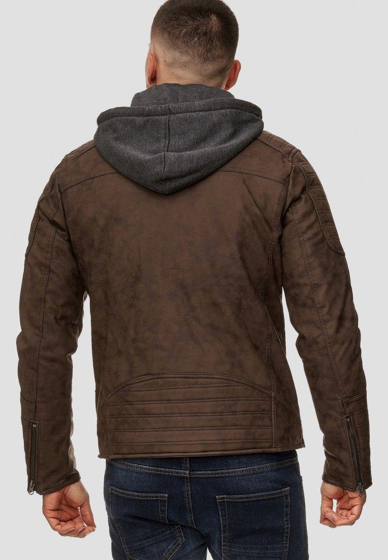 INDICODE JEANS MIGUEL - Veste en similicuir - brown Ppm3YnGh