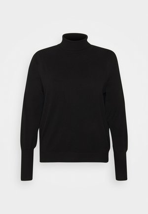 PUFF SLEEVE JUMPER - Jumper - black
