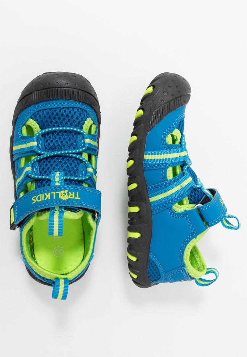 TrollKids - KIDS SANDEFJORD - Walking sandals - medium blue/lime